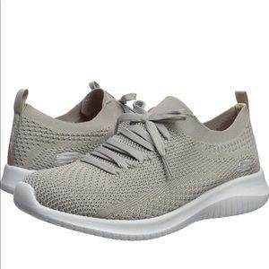 Sketchers Ultra Flex Memory Foam Shoes in Gray